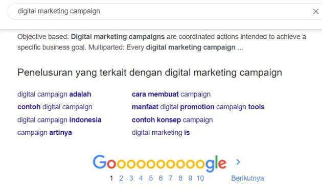 Contoh lsi via Google related search