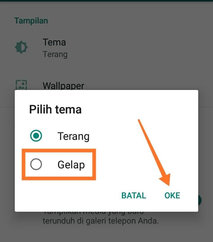 Cara membuat WhatsApp dark mode 3