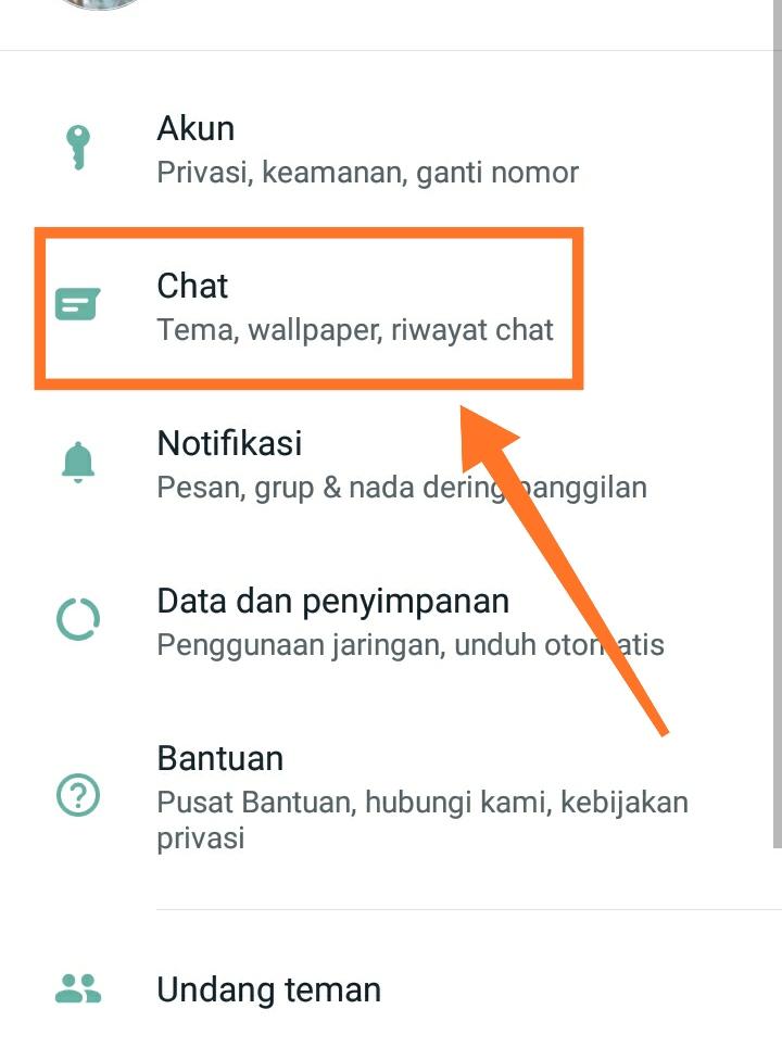 Cara mengganti background WhatsApp 2