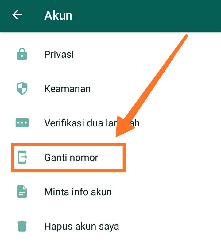 cara mengganti nomor whatsapp 3