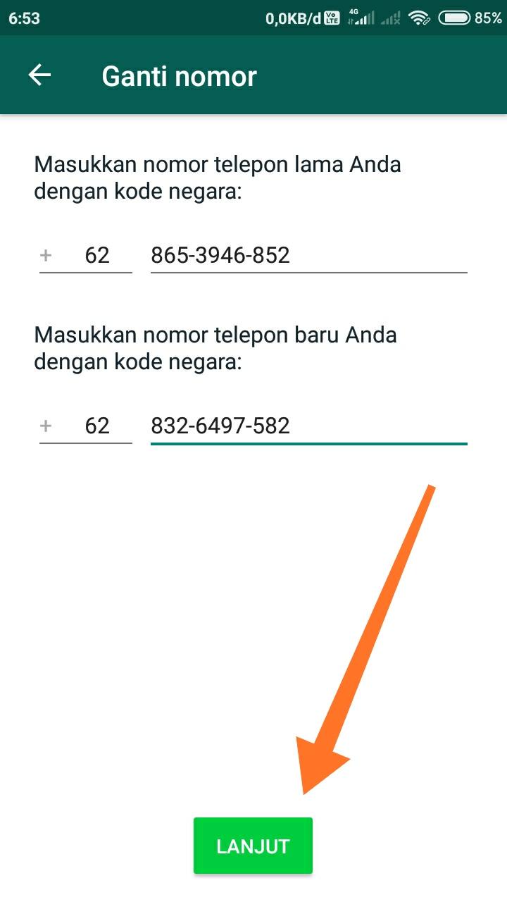 cara mengganti nomor whatsapp 4
