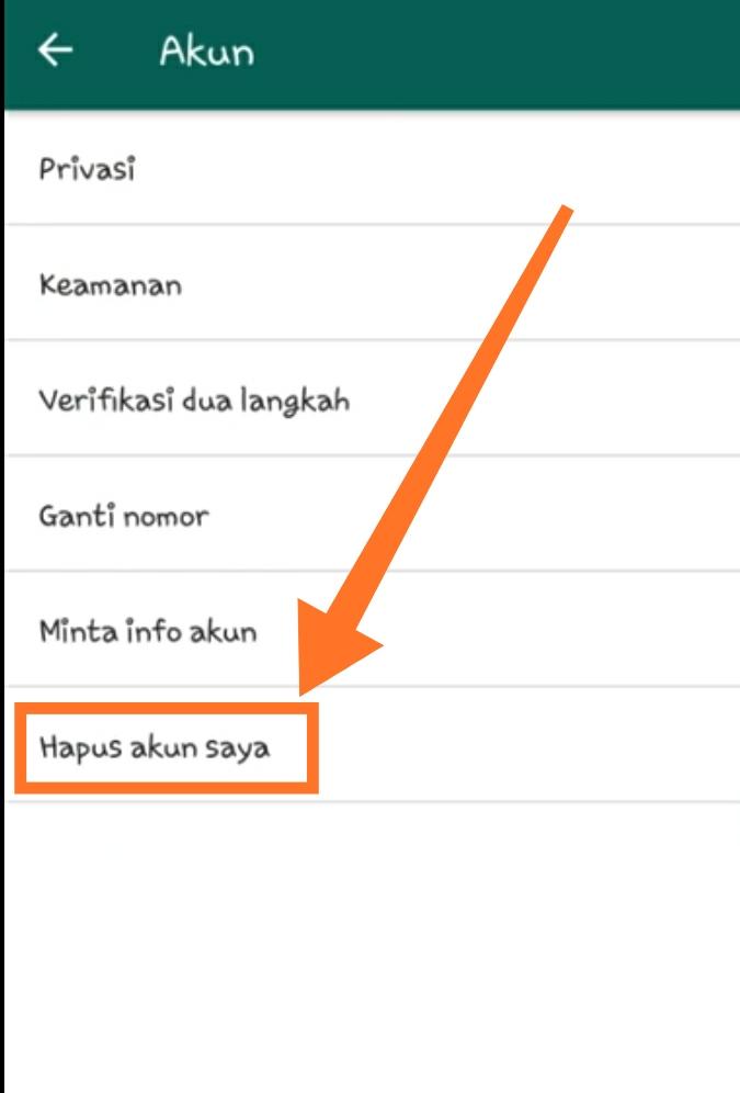 Cara menghapus akun Whatsapp 4