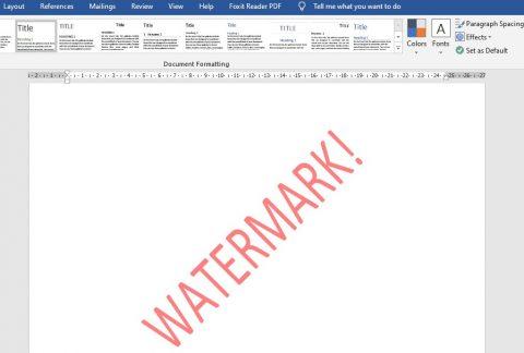 Cara membuat watermark di word mudah