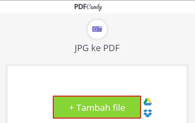 Ubah jpg ke pdf candy