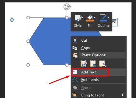 cara membuat flow chart di word menambahankan text 1