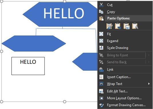 cara membuat flowchart di word mengatur ukuran drawing 1