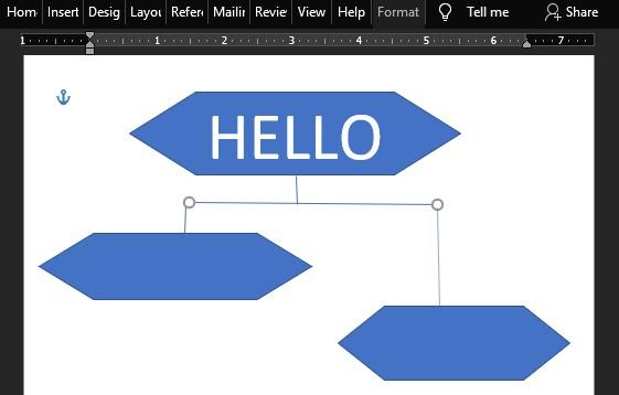 cara membuat flowvchart di word membuat flow line 2