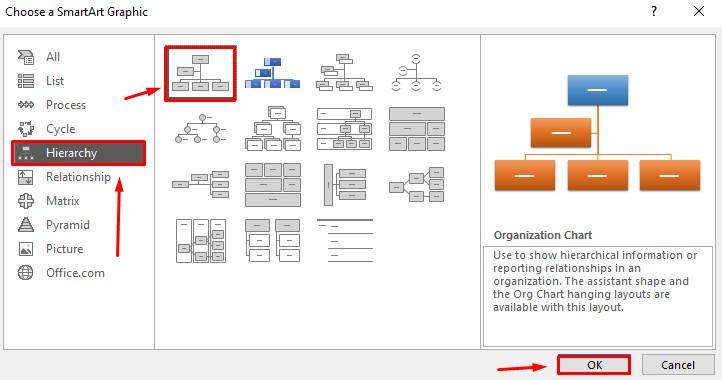 cara membuat struktur organisasi di word 2