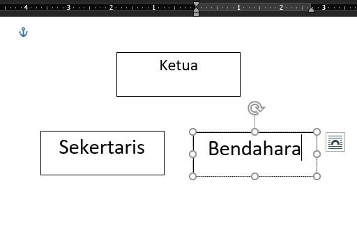 cara membuat struktur organisasi di word shapes 3