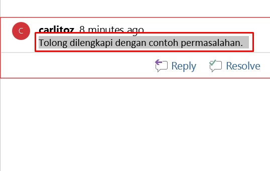 cara menghilangkan comment di word 1