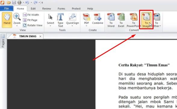 nitro pdf cara mengubah PDF ke JPG 2